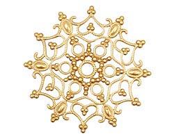 Brass Snowflake Filigree 46mm