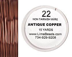 Parawire Antique Copper 22 gauge, 15 yards