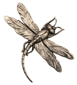 Stampt Antique Pewter (plated) Soaring Dragonfly 46x35mm