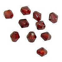 Garnet Faceted Bicone 6mm