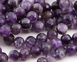 Dogtooth Amethyst Faceted Round 10mm