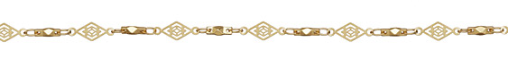 Satin Hamilton Gold (plated) Vintage Diamond Filigree Chain