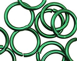 Green Anodized Aluminum Jump Ring 18mm, 12 gauge (13.1mm inside diameter)