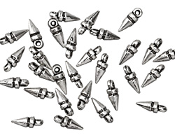 Zola Elements Antique Silver (plated) Mini Spike Charm 3x8mm
