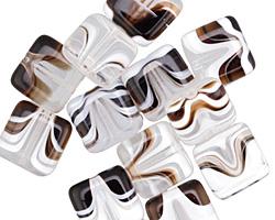 Czech Glass Coffee & Cream Square 10mm