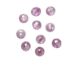 Lilac Faceted Round 6mm