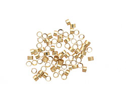 Satin Hamilton Gold (plated) Crimp Tube 1x1.5mm
