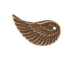 Antique Brass (plated) Wing 17x32mm