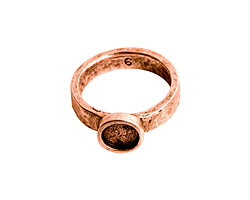 Nunn Design Antique Copper (plated) Hammered Itsy Circle Ring Size 6