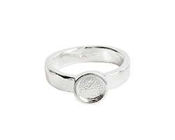 Nunn Design Sterling Silver (plated) Hammered Itsy Circle Ring Size 7