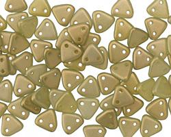 CzechMates Glass Halo Ethereal Celadon 2-Hole Triangle 6mm