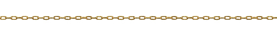Hamilton Gold (plated) Small Paperclip Chain, 25ft Spool