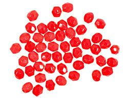 Czech Fire Polished Glass Opaque Red Round 3mm