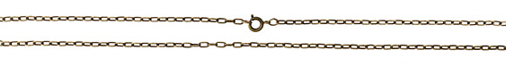 Antique Brass (plated) Finished Drawn Cable Chain 18""