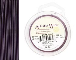 Artistic Wire Dark Blue 24 gauge, 20 yards