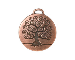 TierraCast Antique Copper (plated) Tree of Life Pendant 24x26mm