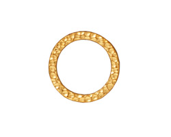 TierraCast Gold (plated) Large Hammertone Ring 19mm