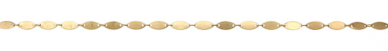 Zola Elements Satin Hamilton Gold (plated) Flat Elongated Oval Link Chain