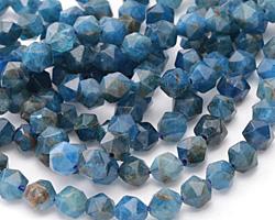 Pacific Blue Apatite Star Cut Round 6mm