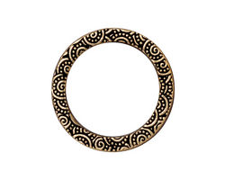 """TierraCast Antique Gold (plated) 1"""" Spiral Ring 25mm"""