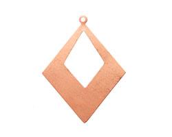 Copper Open Diamond Drop Blank 40x52mm