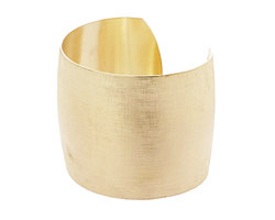 Brass Satin Cuff 64x51mm