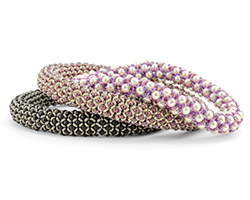 Chenille Stitch Bangle Seed Bead Pattern