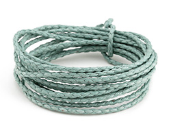 Seafoam Braided Cotton Bolo Cord 2mm