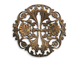 Vintaj Natural Brass Garden Trellis Filigree 40mm