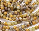 Yellow Moss Agate Round 6mm