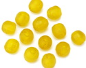 African Recycled Glass Saffron Tumbled Round 8-10mm