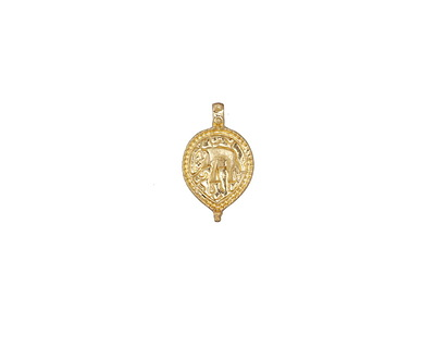 Zola Elements Matte Gold (plated) Beaded Elephant Charm 10x17mm