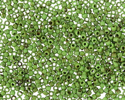 TOHO Frosted Opaque Mint Green Picasso Hybrid Round 11/0 Seed Bead