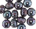 Czech Glass Iris Purple Cruller 8x11mm