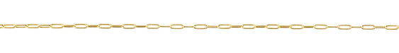 Gold (plated) Small Paperclip Chain
