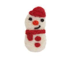 Felt Snowman w/ Cap 26x54-56mm