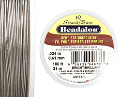 "Beadalon Bright .024"" 19 Strand Wire 100ft."