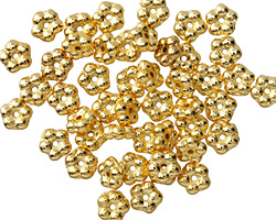 Czech Glass Gold Bali Style Daisy Spacer 2x5mm