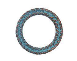Greek Copper Patina Braided Ring 29mm
