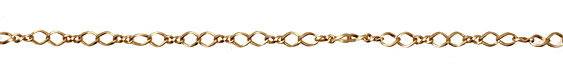 Satin Hamilton Gold (plated) Twisted Oval & Figure 8 Chain