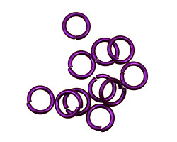 Dark Purple Anodized Aluminum Jump Ring 7mm, 18 gauge (5mm inside diameter)