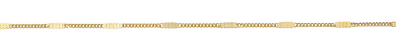 Zola Elements Satin Hamilton Gold (plated) Pressed Curb Chain