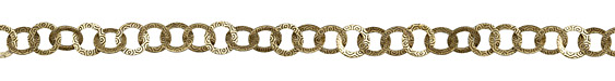 Antique Brass (plated) Patterned Rings Flat Cable Chain