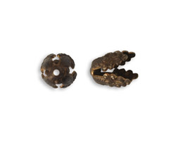 Vintaj Natural Brass Wisteria Bead Cap 10.5mm