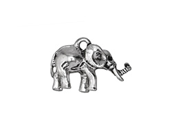 Zola Elements Antique Silver (plated) Lucky Elephant Charm 21x15mm