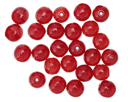 Czech Glass Cherry Round Druk 6mm