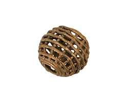 African Brass Basket Round 18-20mm