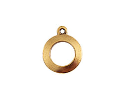 Nunn Design Antique Gold (plated) Round Toggle Ring 19x15mm