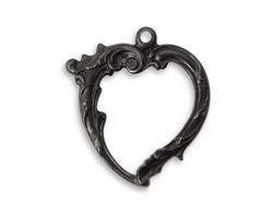 Vintaj Arte Metal Heart Circlet Pendant 25x27mm