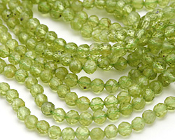Peridot Faceted Round 4mm